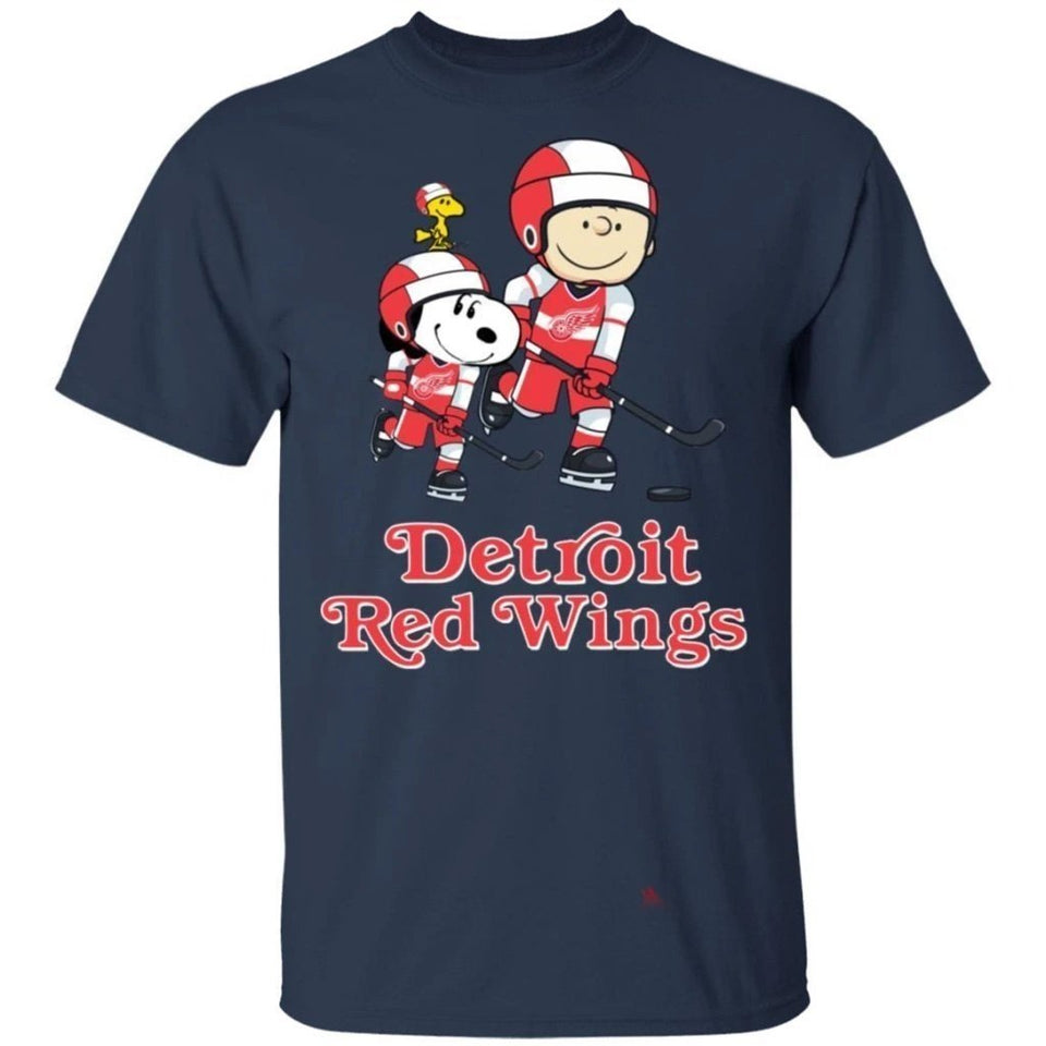 Snoopy & Peanut Red Wings Hockey T-Shirt-Bounce Tee