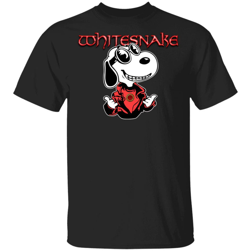 Snoopy Whitesnake T-shirt Rock Band Tee MT12-Bounce Tee