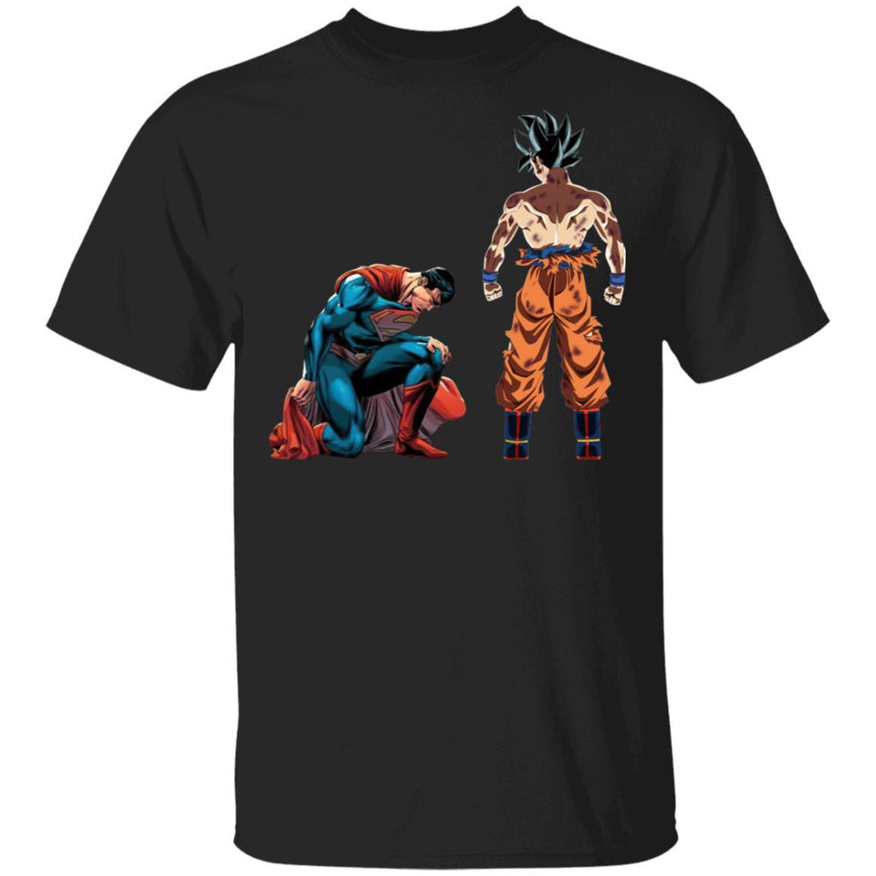 Son Goku Vs Superman T-shirt Anime Tee MT04-Bounce Tee