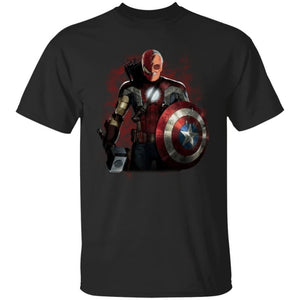 Stan Lee Captain America Spiderman T-Shirt Amazing For Fan-Bounce Tee