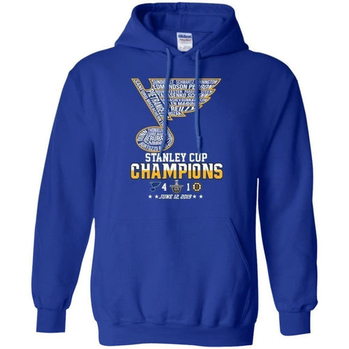 Stanley Cup Champions St. Louis Blues Players Name Hoodie MN06-Bounce Tee