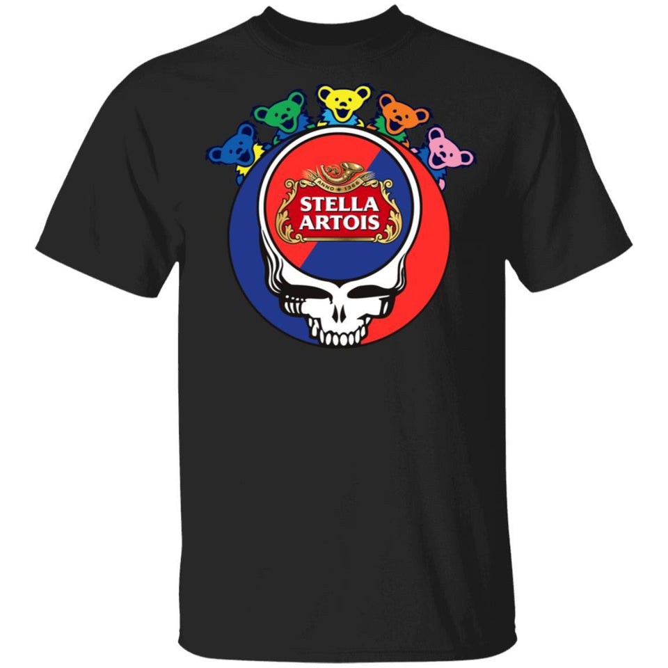 Stella Artois In Grateful Dead Head T-shirt Grateful Beer Tee PT03-Bounce Tee