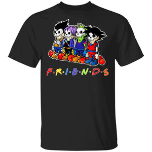 Super Saiyans Friends Halloween Shirt Dragon Ball Tee-Bounce Tee