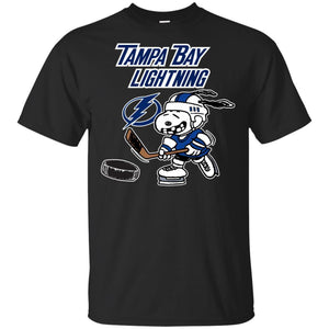 Tampa Bay Lighting Snoopy Hockey T-shirt Funny Fan Men Women-Thebouncetee.com