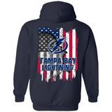 Tampa Bay Lightning American Flag Hockey Hoodie Men Women Fan-Bounce Tee