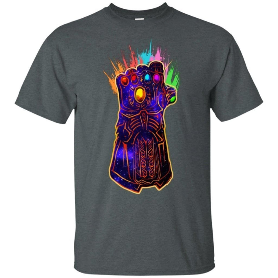 Thanos Infinity Gauntlet Paint Graphic T-Shirt For Fan HA04-Bounce Tee