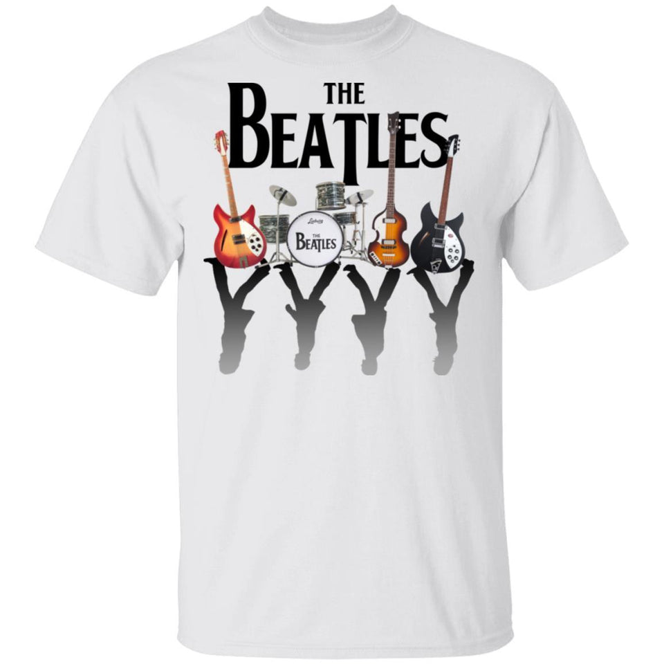 The Beatles Guitars Drum Kits T-shirt Abbey Road Tee MT05-Bounce Tee