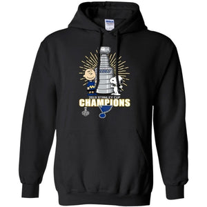 The Champion St Louis Blues Stanley Cup Snoopy Charlie Brown Peanuts Hoodie VA06-Bounce Tee
