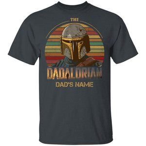 The Dadalorian Mandalorian Dad Custom Name T-shirt Vintage Style MT05-Bounce Tee