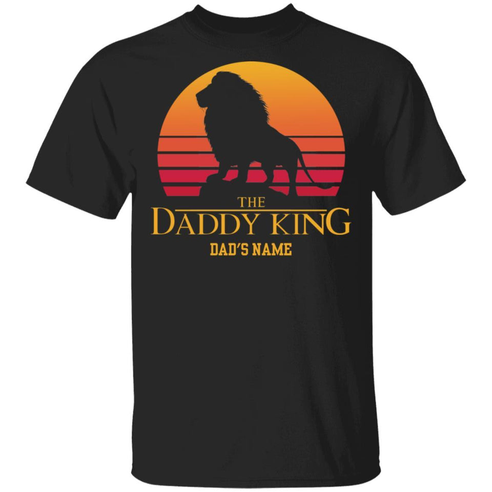 The Daddy King Lion King Dad Personalized T-shirt VA05-Bounce Tee