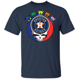 The Grateful Dead Mixed Houston Astros T-Shirt For Fans PT06-Bounce Tee