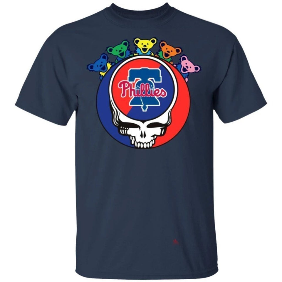 The Grateful Dead Mixed Philadelphia Phillies T-Shirt For Fans PT06-Bounce Tee