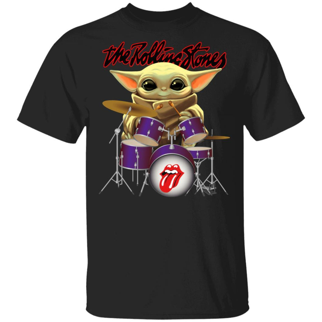 The Rolling Stones Drummer Baby Yoda T-shirt Rock Tee MT04-Bounce Tee