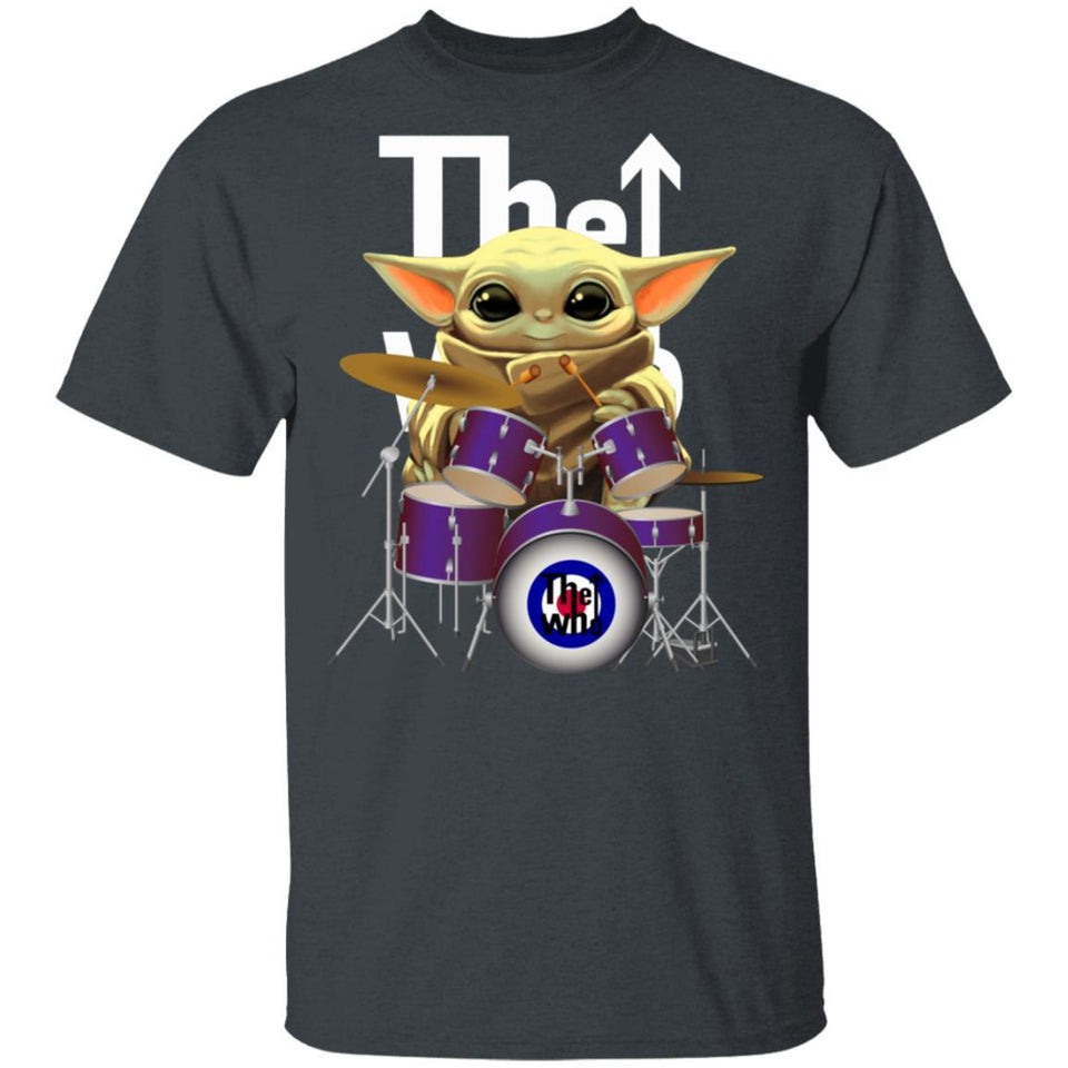 The Who Drummer Baby Yoda T-shirt Rock Tee MT04-Bounce Tee