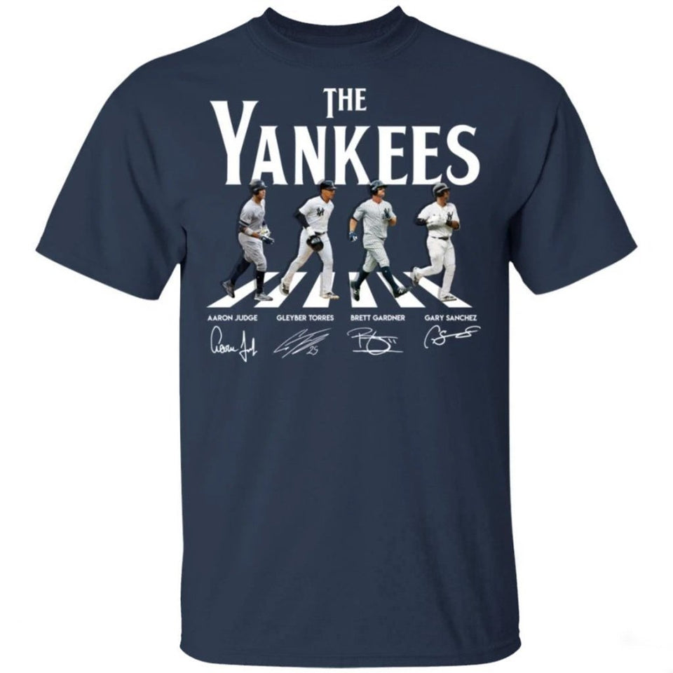 The Yankees On Abbey Road Shirt Funny Gift For Yankees Fans VA08-Bounce Tee