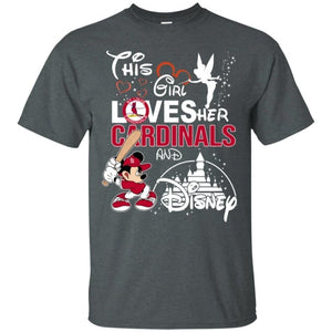 This Girl Love her Cardinals Team and Disney T-Shirt-Bounce Tee