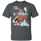 This Girl Love her Giants Team and Disney T-Shirt-Bounce Tee