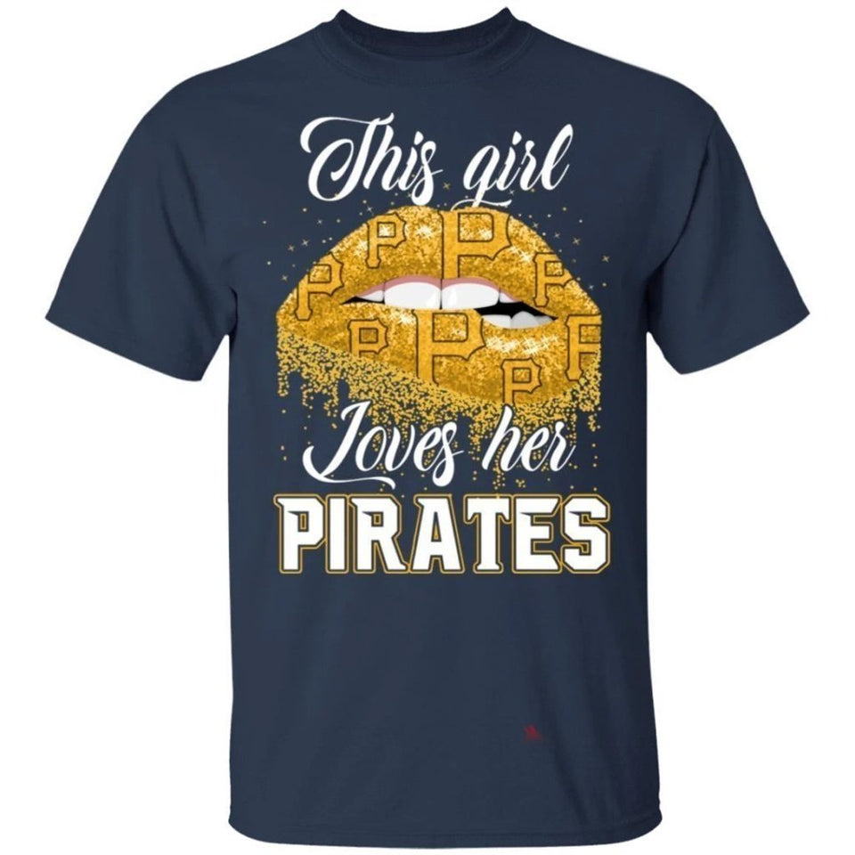 This Girl Love Her Pirates T-Shirt-Bounce Tee