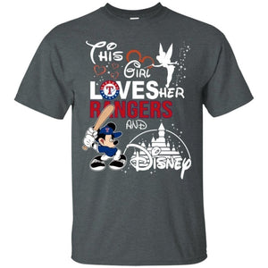 This Girl Love her Rangers Team and Disney T-Shirt-Bounce Tee