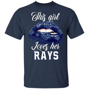 This Girl Love Her Rays T-Shirt-Bounce Tee