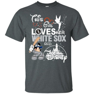 This Girl Love her White Sox Team and Disney T-Shirt-Bounce Tee