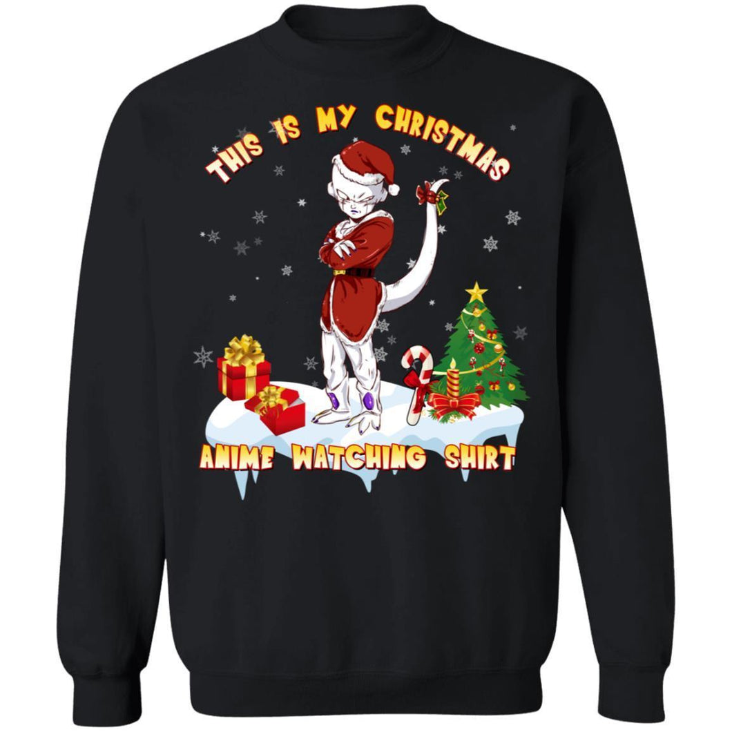 This Is My Christmas Anime Watching Shirt Frieza Of Dragon Ball Sweatshirt-Bounce Tee