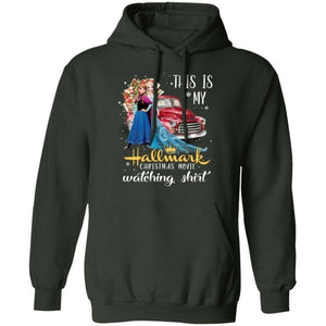 This Is My Elsa & Anna Hallmark Movie Watching Shirt Hoodie Frozen Xmas Gift VA10-Bounce Tee