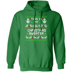 This Is My Ugly Christmas Sweater Snowman Hoodie Cute Gift PT10-Bounce Tee