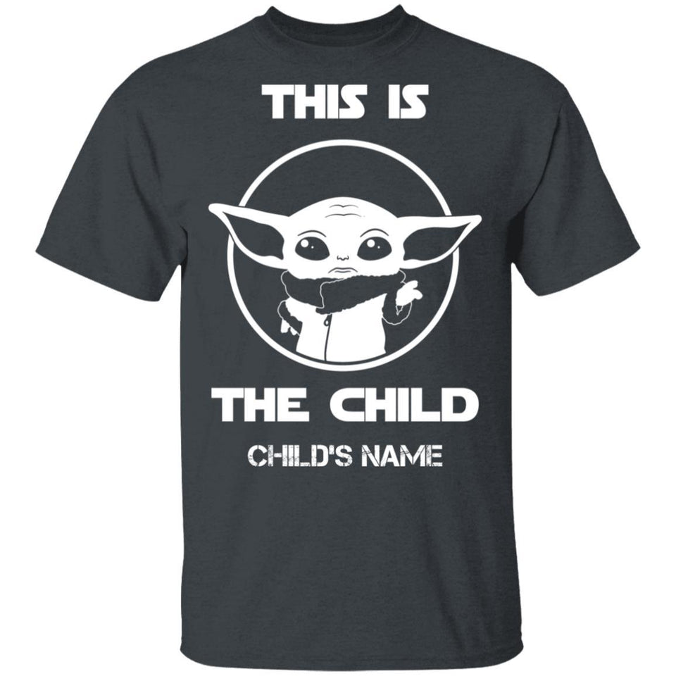 This Is The Child Baby Yoda Personalized T-shirt VA05-Bounce Tee