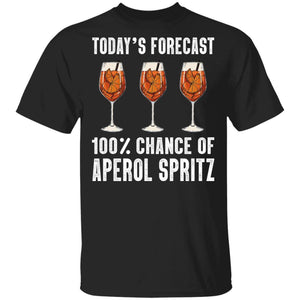 Today's Forecast 100% Aperol Spritz T-shirt Cocktail Tee VA03-Bounce Tee