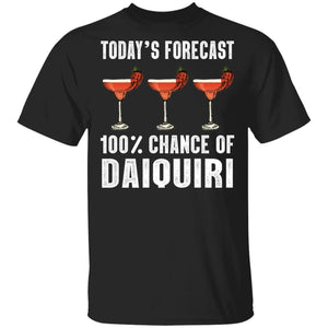 Today's Forecast 100% Daiquiri T-shirt Cocktail Tee VA03-Bounce Tee