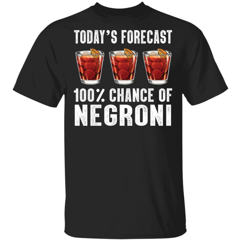 Today's Forecast 100% Negroni T-shirt Cocktail Tee VA03-Bounce Tee