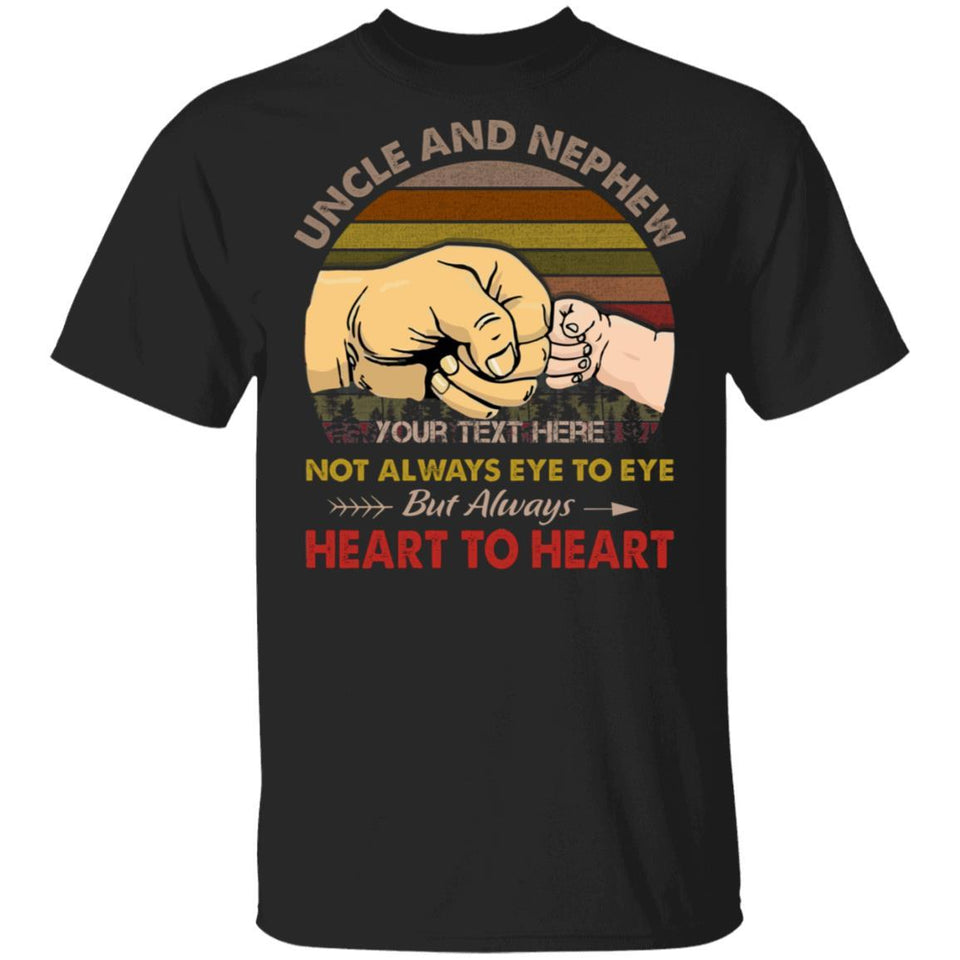 Uncle And Nephew Personalized T-shirt Always Heart To Heart Vintage Tee MT05-Bounce Tee