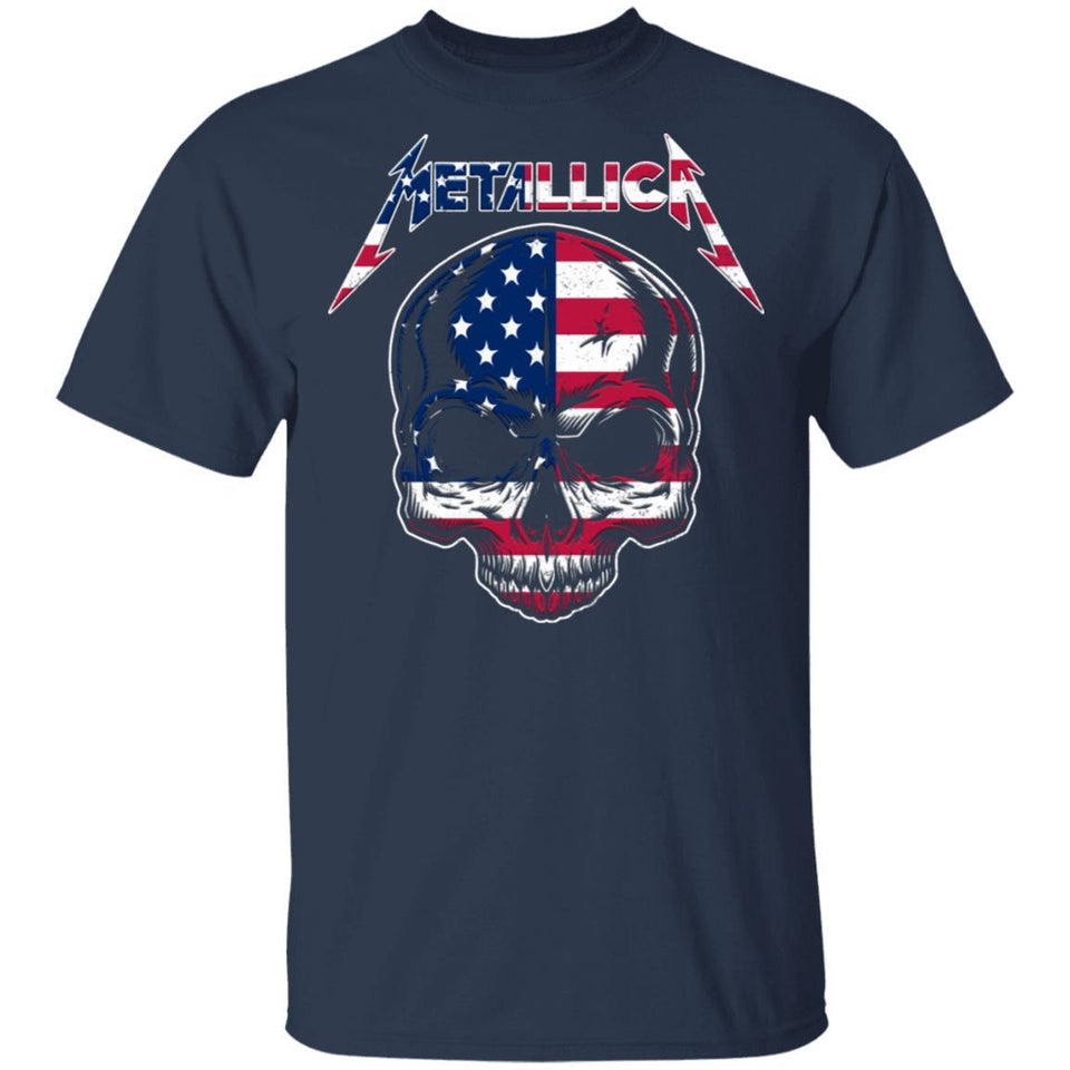 USA Metallica 4th July T-shirt Patriot Rock Tee MT05-Bounce Tee