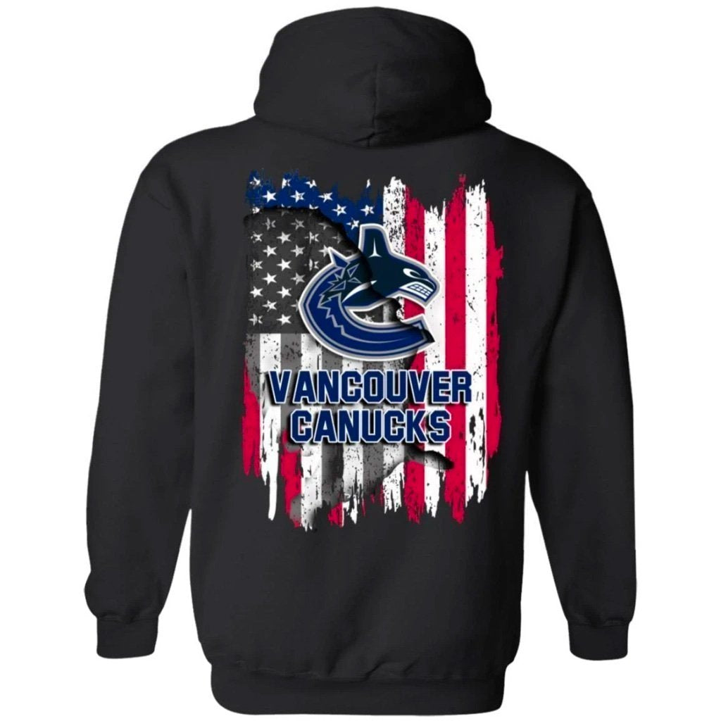 Vancouver Canucks American Flag Hockey Hoodie Men Women Fan-Bounce Tee