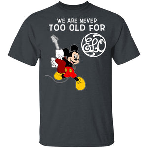 We Are Never Too Old For Electric Light Orchestra T-shirt Mickey Rock Tee HA03-Bounce Tee