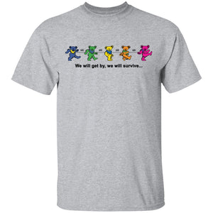 We Will Get By We Will Survive Grateful Dead Bears T-shirt HA04-Bounce Tee