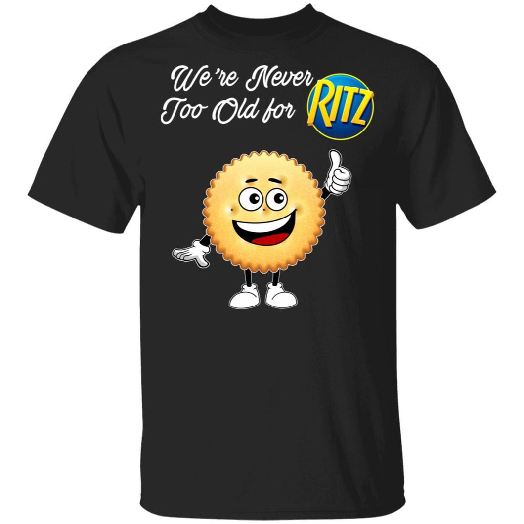 We're Never Too Old For Ritz T-shirt Snack Addict Tee VA12-Bounce Tee