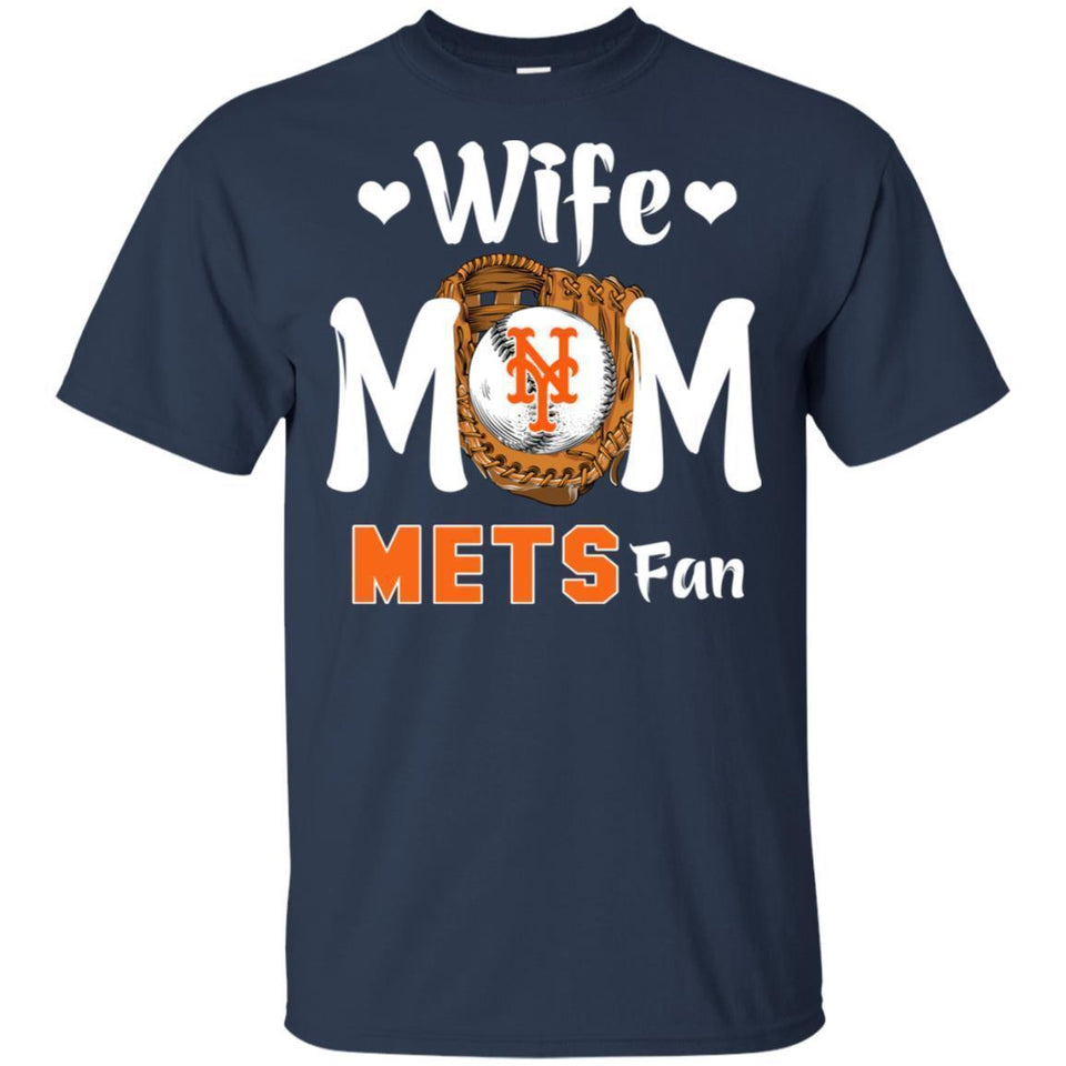Wife Mom Mets Fan T-shirt Mother's Day Gift-Thebouncetee.com