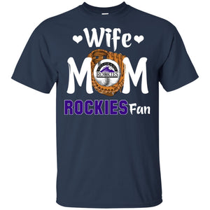 Wife Mom Rockies Fan T-shirt Mother's Day Gift-Thebouncetee.com