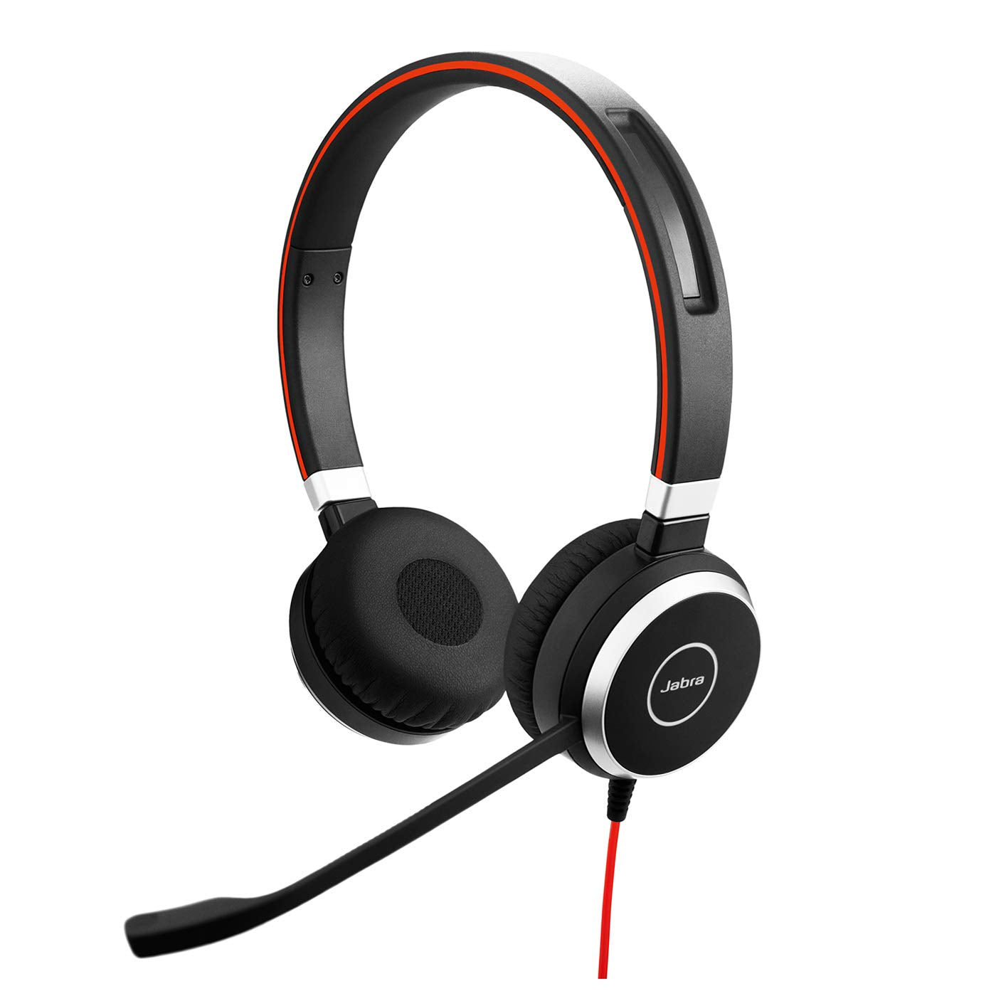 Jabra Evolve 40 UC Stereo Headset – Headphones for VoIP Softphone