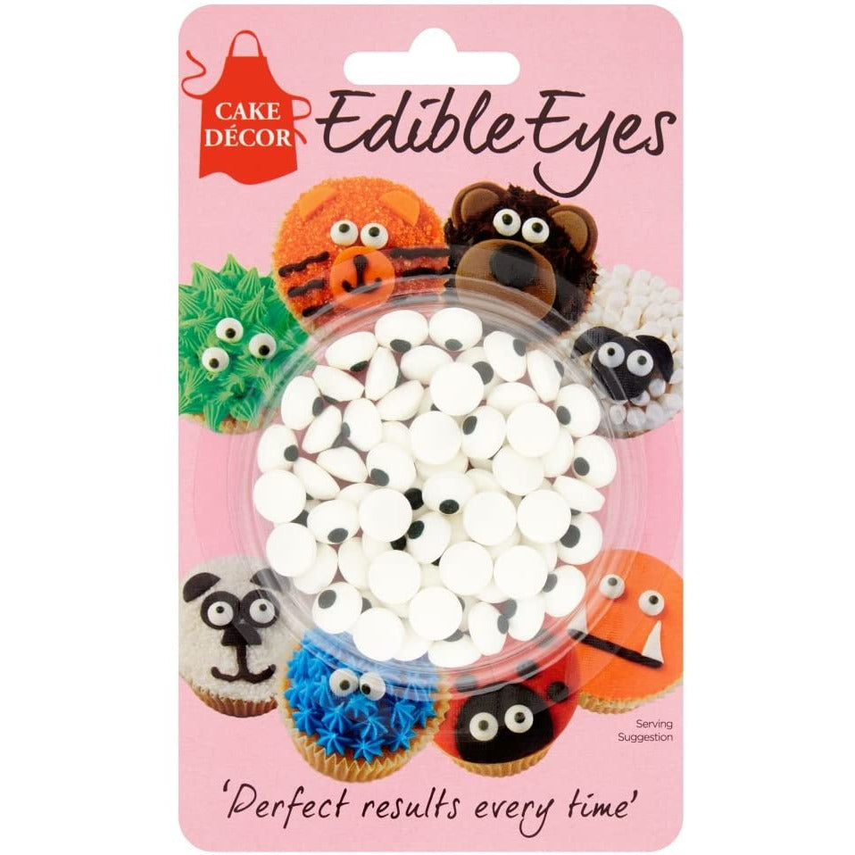 Cake Décor Edible Eyes Sugar Shaped Decorations, 25 g