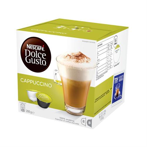 Nescafe Dolce Gusto Pods - Cappuccino - 16 Capsules Retail Box Out of Box failure Warranty