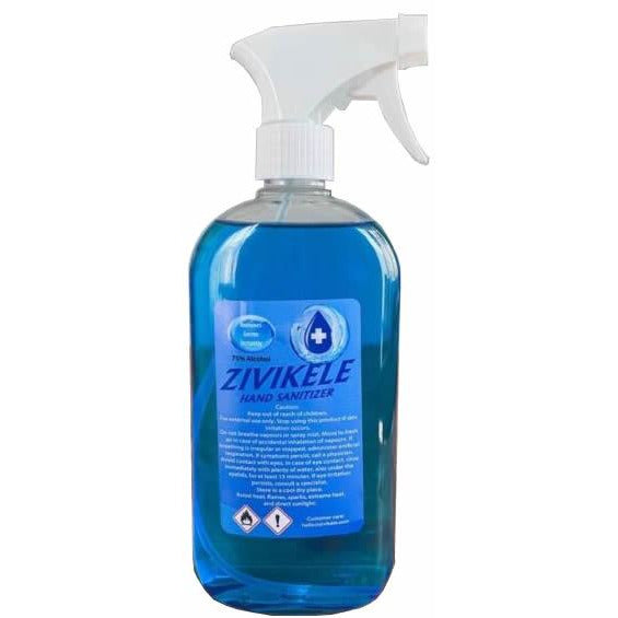 Casey Zivikele 500ml Alcohol based Hand Sanitiser -75% Alcohol with Spray-nozzle, Retail Box No Warranty
