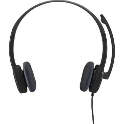 Logitech H151 (981-000589) Stereo Light weight and adjustable headset, Retail BoxWorks with common calling applications across almost all platforms and operating systems, Simple plug-and-play connection, Full stereo sound,Noise-cancelling microphone, 1 year Limited warranty