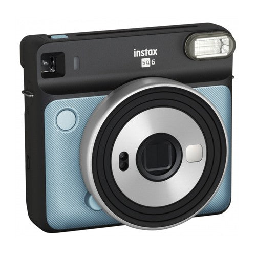 Fujifilm instax SQUARE SQ6 Instant Film Camera - Produces credit card-sized prints, Selfie mirror, Macro Motor-driven lens for close-ups, Auto exposure with manual switching, Built-in flash-Colour: Aqua Blue, Retail Box , 1 year Limited Warranty