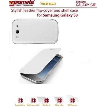 Promate Sansa Samsung Galaxy S3 Stylish leather flip-cover and shell case Detachable cover to