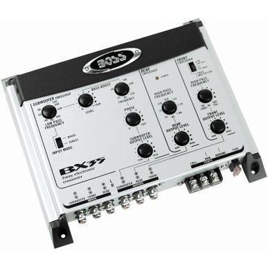 Boss Audio 3-Way Electronic Crossover, Retail Box , 1 year Limited Warranty