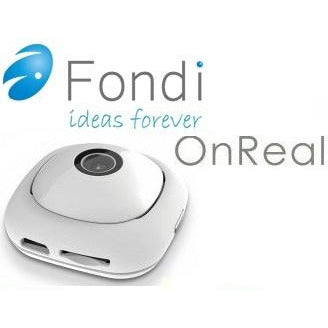 Fondi OnReal Camera - 8MP Photo Capture, 1080P 30FPS Full HD Video Quality, Built-in Wi-Fi, 120 degree Wide Viewing Angle, 400mAh Lithium-ion Rechargeable Battery, Compatible with Android 4.0 and above and iOS 7.0 and Above - White, Retail Box , 1 year Limited Warranty