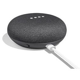 "Google Home Mini - Charcoal, Far-Field Voice Recognition Technology, Multi-User Capability, Dual-Band Wi-Fi Connectivity, Chromecast Audio built-in, 1x 1.58"" Driver for 360° Sound, Works with the Google Assistant, Compact Design at 3.86"" Wide, 1.65"" High, Retail Box, 1 year Limit warranty."